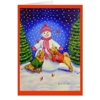 SharPei Christmas Greeting Cards