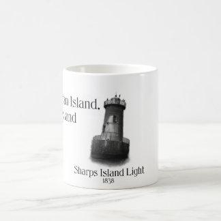 Sharps Island Light Basic White Mug