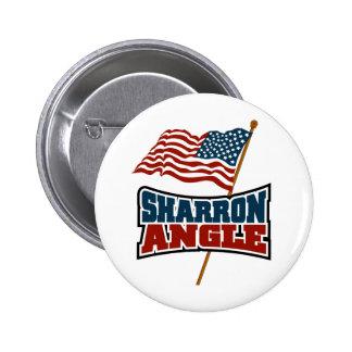 Sharron Angle Waving Flag 6 Cm Round Badge