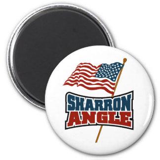 Sharron Angle Waving Flag 6 Cm Round Magnet