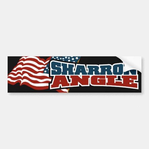 Sharron Angle Waving Flag Bumper Sticker