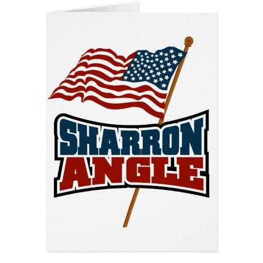 Sharron Angle Waving Flag Cards