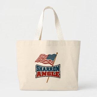 Sharron Angle Waving Flag Jumbo Tote Bag