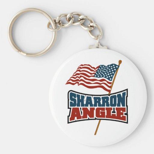 Sharron Angle Waving Flag Keychain