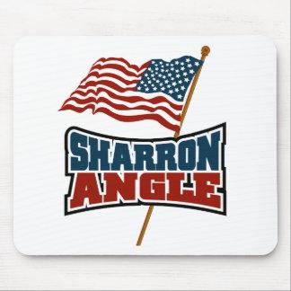 Sharron Angle Waving Flag Mouse Pad