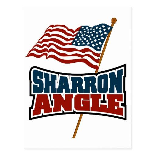 Sharron Angle Waving Flag Post Card