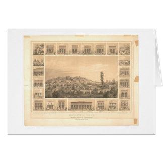 Shasta, CA. Panoramic Map 1856 (1612A) Card