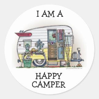 Shasta Camper Trailer RV Round Sticker