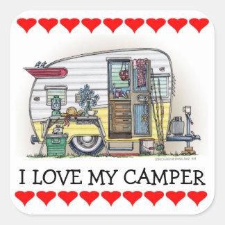 Shasta Camper Trailer RV Square Sticker