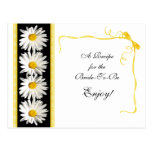 Shasta Daisy Recipe Card for the Bride to Be Postcard