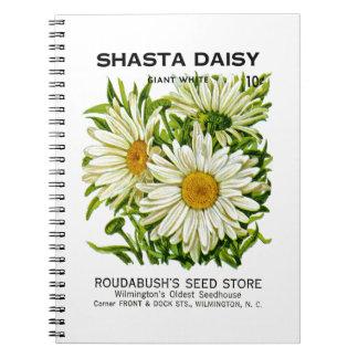 Shasta Daisy Vintage Seed Packet Notebooks