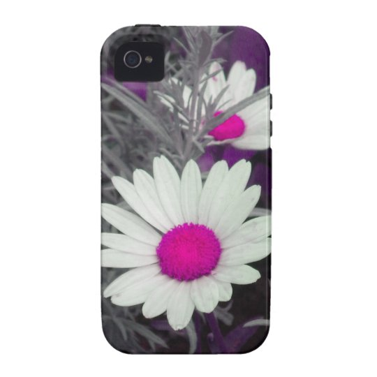 Shasta Daisy (w/Pink) iPhone 4 case