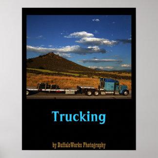Shasta I-5 Trucking Print