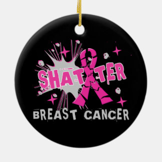 Shatter Breast Cancer Christmas Tree Ornament