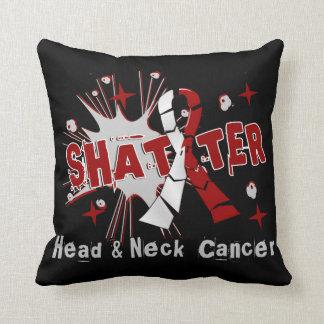 Shatter Head Neck Cancer Throw Cushion