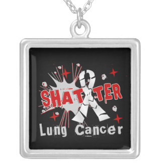 Shatter Lung Cancer Silver Plated Necklace