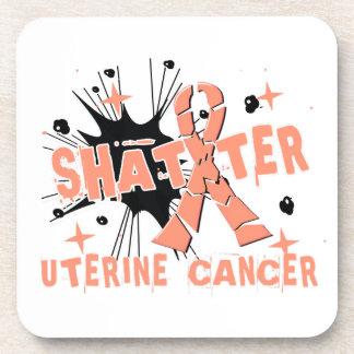 Shatter Uterine Cancer Beverage Coaster