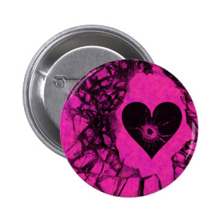 Shattered Broken Hole In My Heart 6 Cm Round Badge
