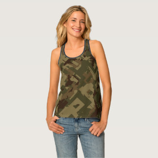 Shattered Camouflage Tank Top
