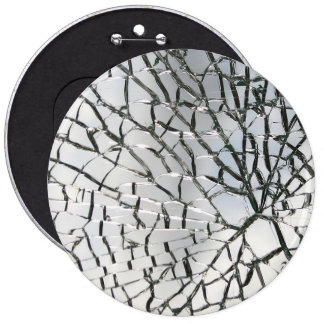 Shattered glass texture 6 cm round badge
