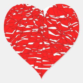 Shattered Heart Heart Sticker