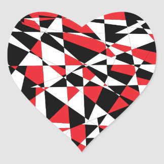Shattered Life Tricolor Heart Sticker