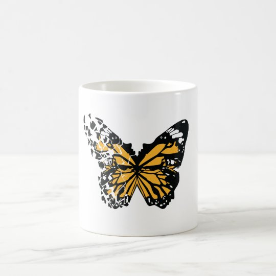 Shattered wing butterfly coffee mug