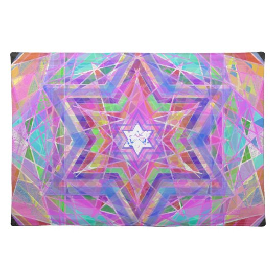 Shatters crystal star. placemat