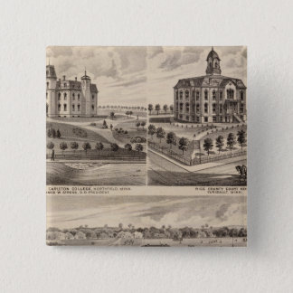 Shattuck School, Faribault Willis Hall, Minnesota 15 Cm Square Badge