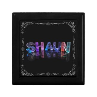 Shaun - The Name Shaun in 3D Lights (Photograph) Jewelry Boxes