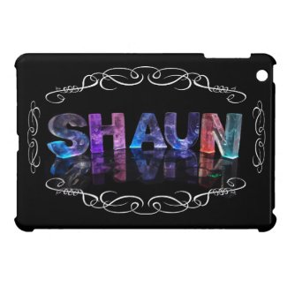 Shaun - The Name Shaun in 3D Lights (Photograph) iPad Mini Cases