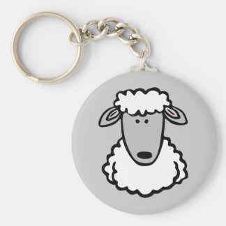 Shaun the Sheep Cute Cartoon Animal Basic Round Button Key Ring