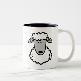 Shaun the Sheep Cute Cartoon Animal Two-Tone Coffee Mug