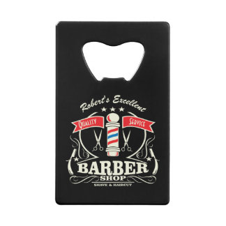 Shave and a Haircut Barbershop Monogram Gift