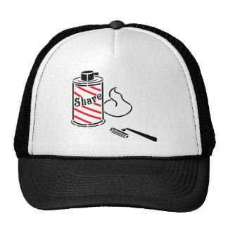 Shave Cream and Razor Mesh Hats