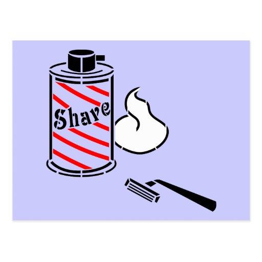 Shave Cream and Razor Postcards