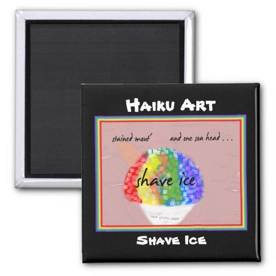 Shave Ice Haiku Art Magnet