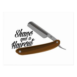 Shave Razor Postcard