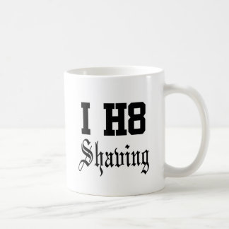 shaving basic white mug