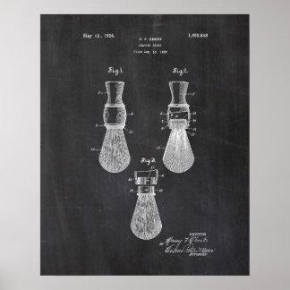 Shaving Brush Patent Poster