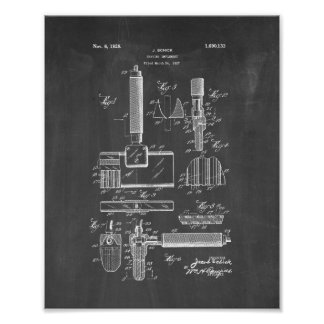 Shaving Implement Patent - Chalkboard Poster