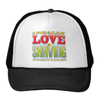 Shaving Love Face Mesh Hat