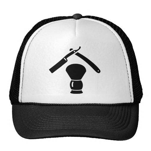 Shaving razor brush trucker hat