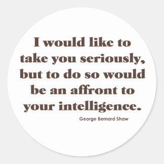 Shaw on Intelligence Round Sticker