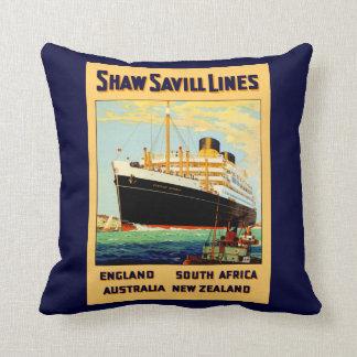 Shaw Savill Line Cushion