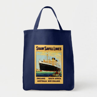 Shaw Savill Line Grocery Tote Bag