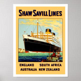 Shaw Savill Line Poster