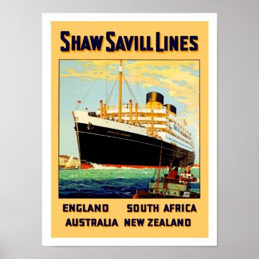 Shaw Savill Line Print