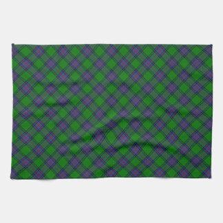 Shaw Scottish Clan Tartan Design Tea Towel