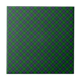 Shaw Scottish Clan Tartan Design Tile